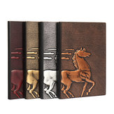 1 Piece European Retro 3D Embossed PU Notebook A5 Bronze Color Notepad Vintage Journal Diary Stationery Supplies