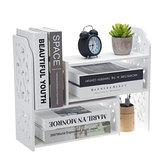 Bricolage bureau étagère bibliothèque organisateur rack unité de bureau boîte de rangement étagère stand