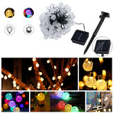 Solar Powered 12M 100 LED Crystal Ball String Fairy Light per giardino Decorazioni per alberi di Natale Luci Decorazioni per esterni