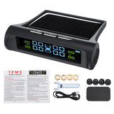 Wireless Solar TPMS Car Tire Pressure Monitor System + 4 External Sensors 0-5 Bar