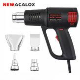 NEWACALOX 1500 W Máquina de Ar Quente Elétrica Temperatura Ajustável 50-550 Celsius Ferramenta de Poder da Tocha de Calor com 4 pcs Bocais UE US