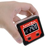 Digital Level Angle Finder Bevel Box Magnetic Base 360° (4 x 90°) Inclinometer Protractor Gauge Tilt Direction Indicator