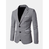 Herren Business Casual Plaid Slim Blazer