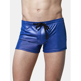 Zwemmen Imitatieleer Athletic Boxers Trunks strandzwembroeken shorts voor heren