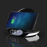 Bakeey3in110WQiNightضوء إنذار ساعةحائط هاتف Holder Wireless شاحن Dock with USB Output Quick شحن Vertical for Samsung S10 + for iهاتف 11 Pro Max Xiaomi 9T Mi9 Pro HUAWEI P30Pro LG