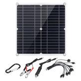 35 Вт Портативный IP65 Монокристаллический Солнечная Панель Двойной USB Порт 10-в-1 Зарядный Кабель