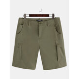 Mens Solid Cargo Shorts