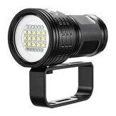 15x5050 L2 Sualtı 100-200 m Dalış Feneri Sualtı Video Fotoğrafçılığı Çekim LED Işık Doldurun