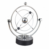 1 Pc Perpetual Motion Instrument Spherical Pendulum Orbital Revolving Ornament Toy for Home Office Birthday Gifts