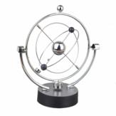 1 pieza de instrumento de movimiento perpetuo, péndulo esférico orbital, juguete de adorno giratorio para regalos de cumpleaños de la oficina en casa