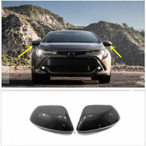 Carbon Fiber Style Side Car Rearview Mirror Cover For Toyota Corolla Hatchback 2019