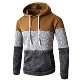Mens Casual Hooded Drawstring Sweatshirt