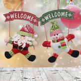 Noel Baba Kardan Adam Noel Kapı Asılı Süs Ağacı Ev Dekorasyon Noel Hediyesi