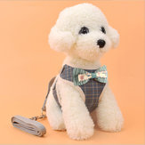 Pet Strap Leash Dog Small Dog Vest-Style Bow Evening Dress Chest Strap Dog And Cat Universal Dog Traction Rope