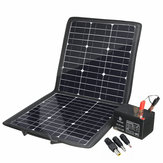 100W Portable Solar Panel Charger with 5V/12V USB DC Dual Output Waterproof