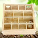 Деревянная игрушка лабиринта хомяка со стеклянной крышкой