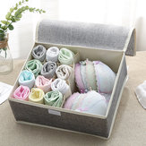 Cotton Underwear Storage Box Organizer Multi-Collapsible Bra Underwear Socks Storage Box Parts Storage Box