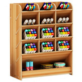 Pencil Pen Holder Storage Box Desktop Stationery Rack Density Plate Office Home Organizer
