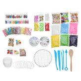 Balçık Için Kitleri Malzemeleri yapma DIY El Yapımı Renk Köpük Topu Gevşek Boncuk Granüller Balçık Yapma Malzemesi Seti