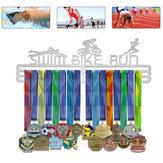 Madalya Tutucu Asmak 36/60 Koşu Bisikleti Yüzme Spor Madalya Raf Raf