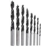 Drillpro 8pcs 3-10mm Carbon Steel Working Auger Drill Woodworking Tool Twist Drill Bit Set