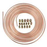 Universal 25Ft Copper Nickel Brake Line Tubing Kit 3/16