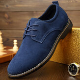 Toe apontado Casual Soft Suede Business Office Oxfords