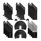 Drillpro 24Pcs Oscillating Saw Blade Multi Tool Quick Release Saw Blades Kit for Metal Wood Plastic Cutting Oscillating Tools for Dewalt/Porter C-able/Ryobi/Fein Multi/B-osch/Dremel