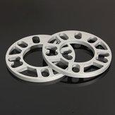 2pcs Universal 10MM Legierung Aluminium Spurverbreiterungen Distanzscheiben Platte 4/5 Stud Fit