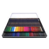 12/24/36/48/72 Conjunto de lápis de cor Lápis de pintura de coloração a seco Canetas de cor solúvel em água Escova Papelaria de pintura para artista