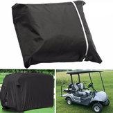 4 Seater Passenger Golf Car Cart Cover Storage Zippered Rear Air Vents Elastic Hem Cover