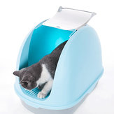 Anti Splashing Cat Litter Basin Box Bedpan Handle Enclosed Nest Cat Sand Boxes Toilet Deodorant  Pet Supplies