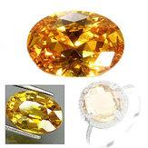10 × 14 ملم الأصفر الياقوت جوهرة الشكل البيضاوي الأحجار الكريمة والمجوهرات مجموعة هدايا US