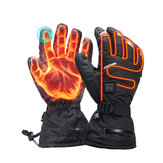 3.7V 3600mah Electric Heated Gloves Touch Screen Waterproof Motorcycle Winter Warmer Outdoor Skiing With Safe Reflective Strip