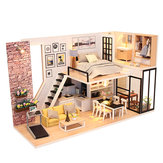 DIY Assembling Doll House with Music/Sound/Light Modern House Toy for Christmas Birthday Gift