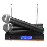 Karaoke KTV Konuşma Toplantı Sahne DJ için UHF Çok İşlevli Kablosuz Taşınabilir El Mikrofon Sistemi