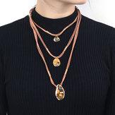 Нерегулярное плетеное ожерелье Веревка