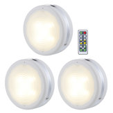 3 Pcs 4000K LED Puck Light Chen Under Cabinet Light Counter Closet