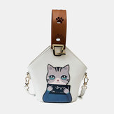 Women Fashion Cute Cat Crossbody Bag Handbag Shoulder Bag