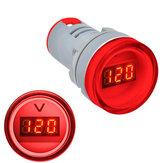 3 adet Kırmızı 22 MM AD16 AD16-22DSV Tip AC 60-500 V Mini Gerilim Metre LED Dijital Ekran AC Voltmetre Gösterge Işığı / Pilot Lamba 110 V 220 V