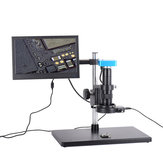 フルセット34MP 2K産業用はんだ付けデジタル顕微鏡カメラUSB出力180X Cマウントレンズ56 LED 11.6インチスクリーン