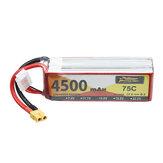 ZOP Power 14.8V 4500mAh 75C 4S Lipo Batterie XT60 Stecker für RC Drone Car