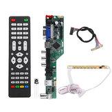 T.SK106A.03 Universal LCD LED Controlador de TV Placa de controlador TV / PC / VGA / HDMI / USB + Botón de 7 teclas + 1ch 6bit 30 LVDS Cable
