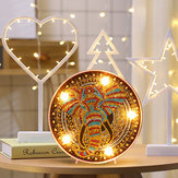 DIY LED Diamond schilderij Mandala olifant uil nachtlampje Art Home Decor Gift