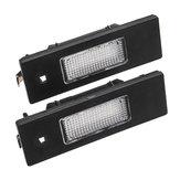 Paar 24-SMD LED Kennzeichenbeleuchtung 6000K Weiß Für Fiat Marea Alfa 46408006 46786572