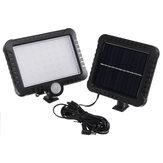 56 LED 50W Solar Farola PIR Movimiento Sensor Seguridad Lámpara al aire libre Jardín