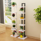 Multilayer Flower Shelf Indoor Flower Pot Rack Solid Wood Living Room Simple Floor Rack