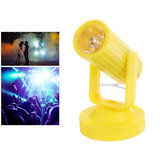 RGB LED Colorful Lâmpada de palco Shell amarelo Spot Light para Disco KTV Party AC110-220V