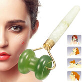 Beauty Green Natural Healthy Body Head Neck Foot Jade Roller Facial Massager