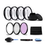 49/52/55/58/62/67/72 / 77mm Close-up + 1 / + 2 / + 4 / + 10 UV FLD CPL-lensfilterkapset voor DSLR-camera